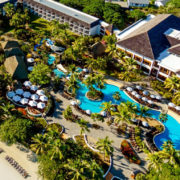 Aerial View of Luxury Fiji Resort