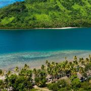 Aerial View of Resort in Fiji