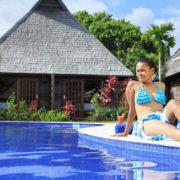 Beach Resort Pool in Fiji