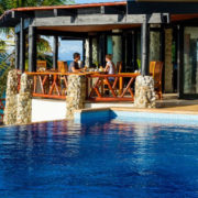 Dining by The Pool in Fiji