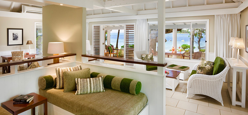 Family Living Room Fiji Vacation