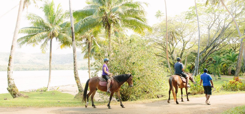 Horseback riding in Fiji