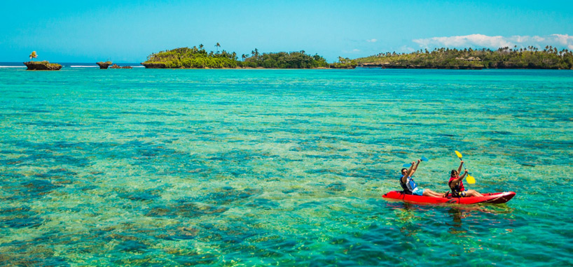 Kayaking in Fiji
