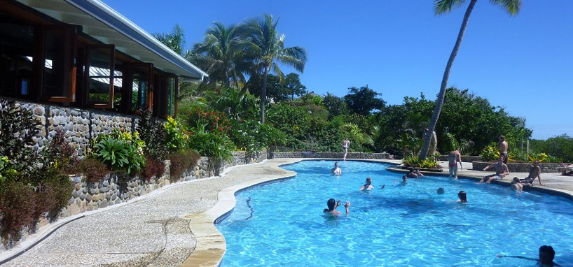 Pool in Diving Resort Fiji