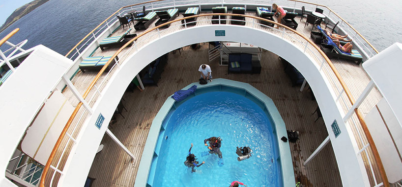 Pool in Fiji Cruise Ship