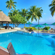 Pretty Pool with Day Beds in Fiji