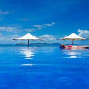 Relaxing in the Pool in Fiji