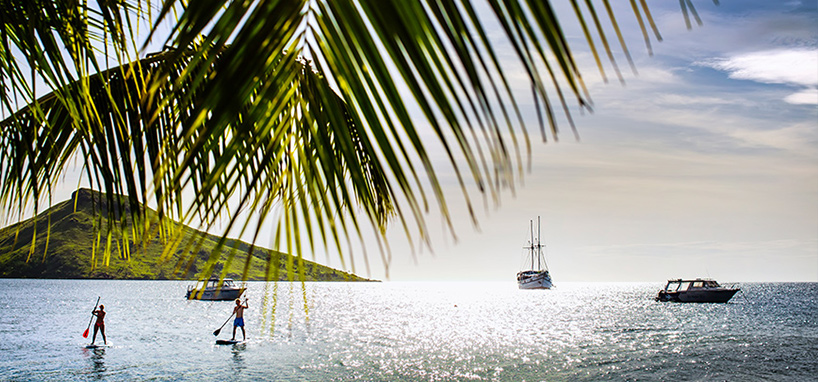 Standup Paddling in Fiji