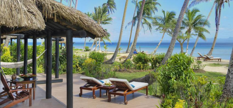 Upgrade to Oceanfront Bure in Fiji