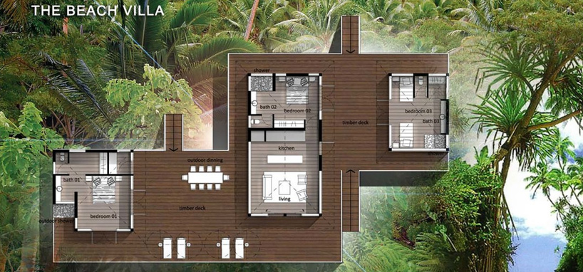 Upgrade to the 3 Bedroom Beach Villa