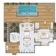 Beachside Villa Floor Plan