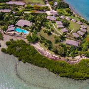 Aerial over Fiji resort