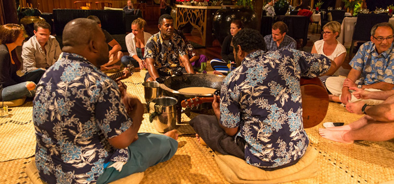 Ceremony in Authentic Fiji Luxury Resort