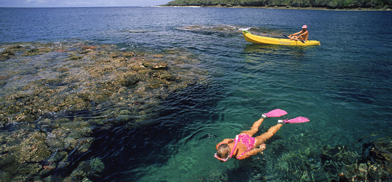 Snorkeling in Fiji Luxury Resort