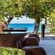 Beach view from Fiji resort