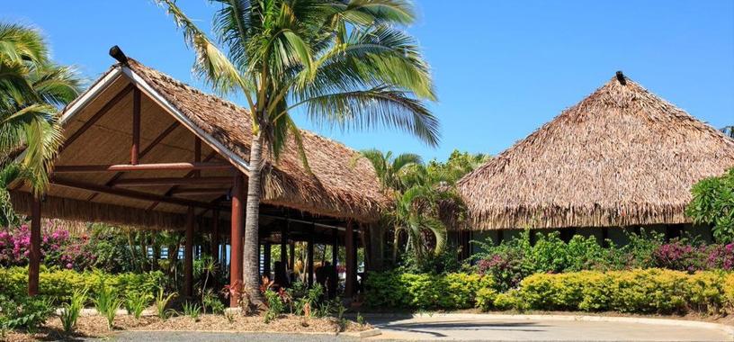 Front of Fiji resort exterior