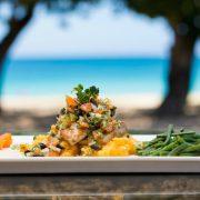 Tropical dish in Fiji resort