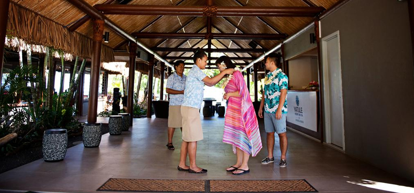 Welcome Lei in Fiji resort