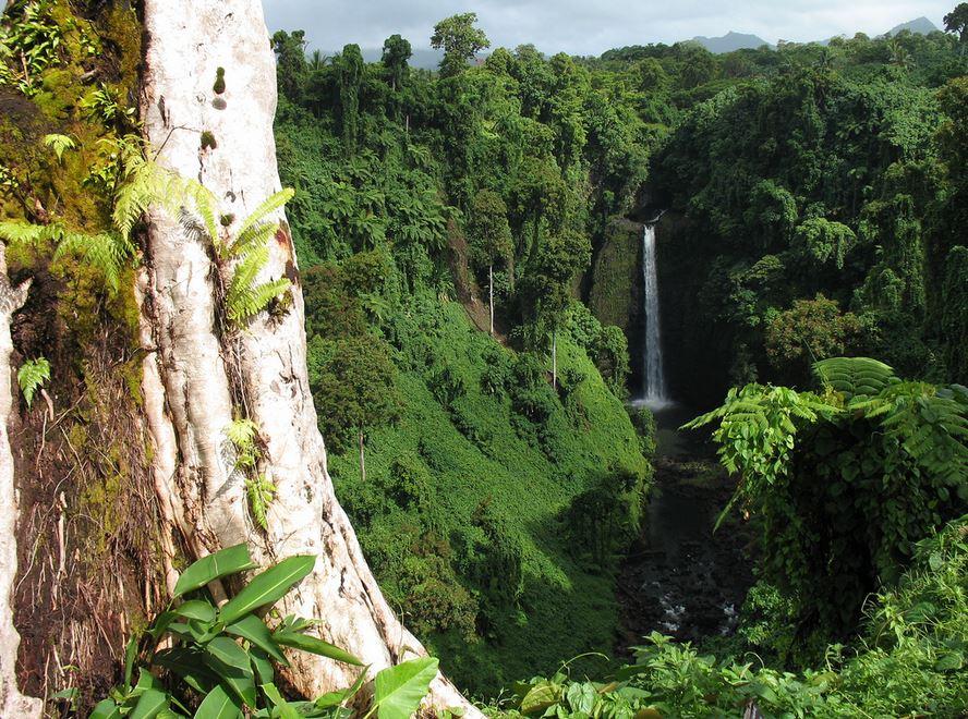 Sopoaga Falls Uplou Samoa