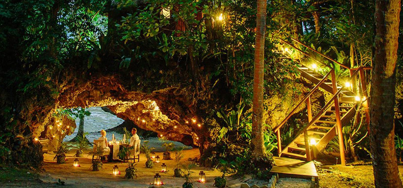 Namale Resort candlelit cave