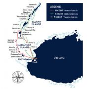 Fijian Islands Cruise Map