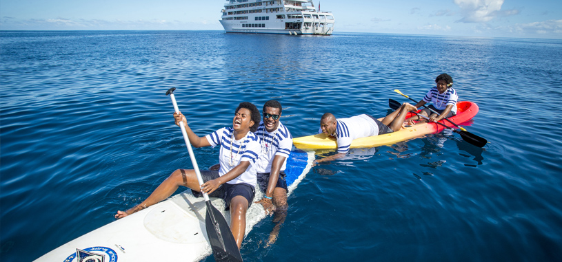 Fijian cruise staff